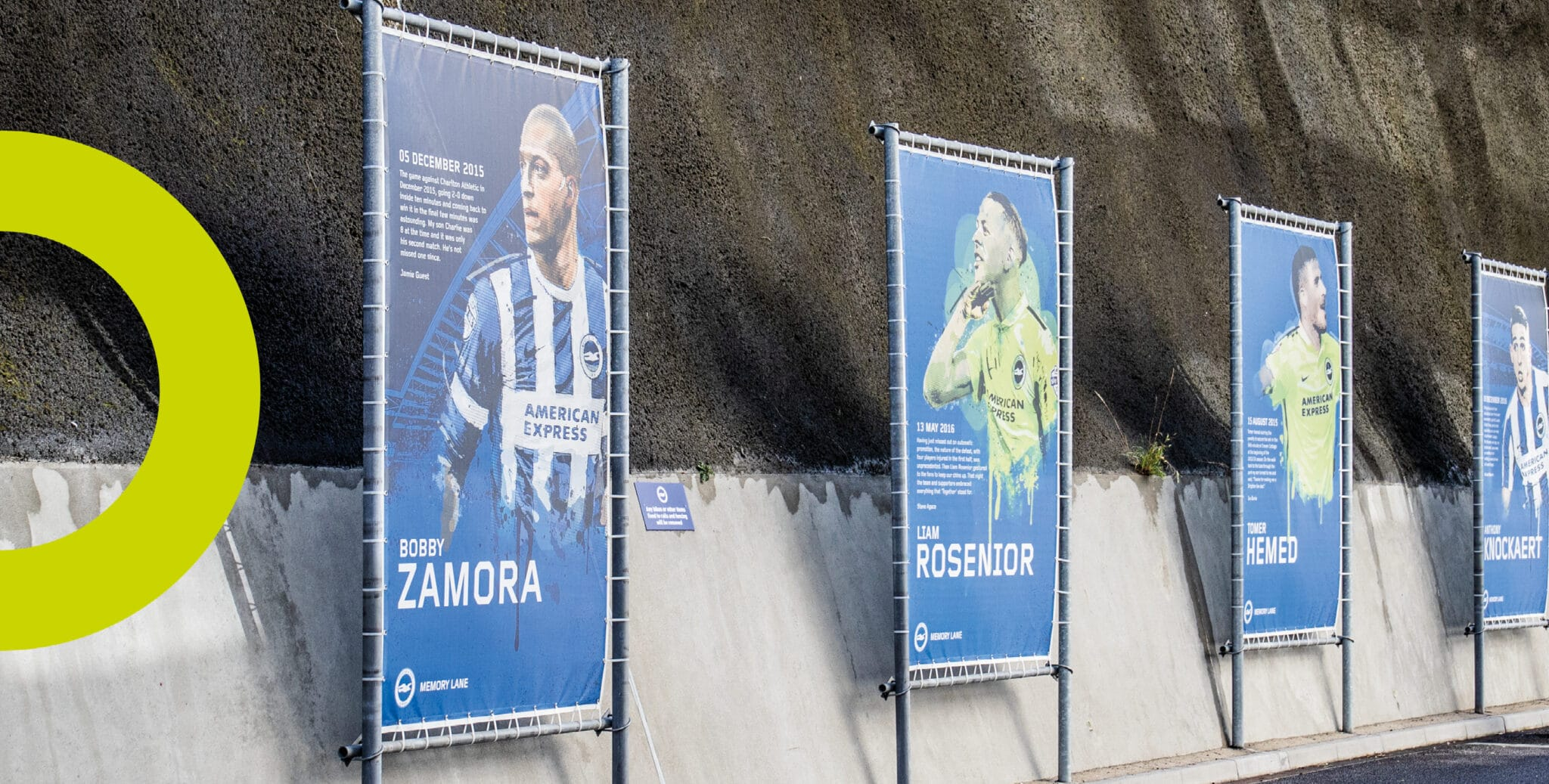 BHAFC Banners for Memory Lane