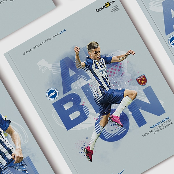 An image of the Brighton and Hove Albion 2019/20 programme which we love the design of