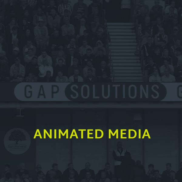 A image showing the animated media section of our portfolio
