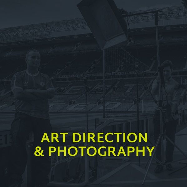 A image showing the art direction & photography section of our portfolio