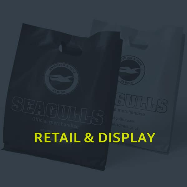 A image showing the retail & display section of our portfolio